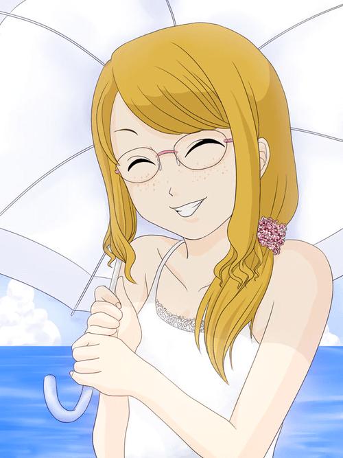 夏の海とそばかすの女の子